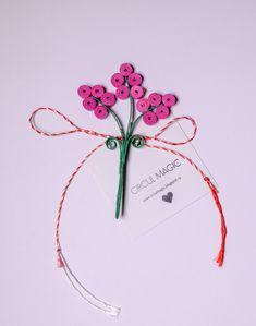 Quilling Paper Flower - DIY Favor | Pink Flowers |  Martisoare Handmade 2018 Quilling - Circul Magic Quilling Flowers, Paper Flowers Diy, Diy Paper, Paper Quilling, Quilling Videos, Diy Projects To Try, 8 Martie, Pink, Handmade
