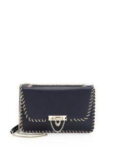 9b6d1562a3f3 Valentino Garavani - Demilune Leather Small Shoulder Bag