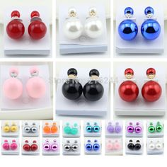 Aliexpress.com : Buy 1pcs free shipping 2014 New fashion accessories gem vintage candy color circle statement stud earrings female from Reliable earrings funky suppliers on Wholesale Fashion store !!!.