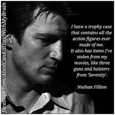 Well, he said he aimed to misbehave. The rascal shot a bullseye.#NathanFillion