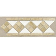 American Olean 4-in x 12-in Starting Line White Ceramic Listello Tile maybe for our bath?