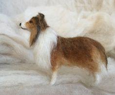 Naald vilten hond huisdier portret Sheltie Shetland Sheepdog