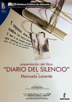 """#actividadesbiblioteca Presentación del libro """"Diario del silencio"""" de Manuela Lorente."""