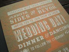 CuriousDoodles: Screen Printed Wedding Invite Design