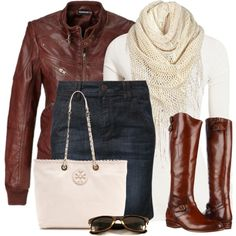 """Skirt & Tall Boots"" by wishlist123 on Polyvore"