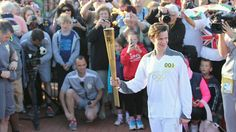 Matt Smith with the Olympic Torch