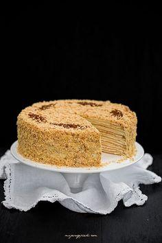 Marcinek- tradycyjny Polish Desserts, Polish Recipes, No Bake Desserts, Polish Food, Sweets Cake, Cupcake Cakes, Sweet Recipes, Cake Recipes, Food Cakes
