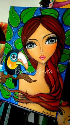 Doll Painting, Painting Of Girl, Abstract Face Art, African Art Paintings, Canvas Painting Tutorials, Indian Folk Art, Hippie Art, Art Drawings Sketches, Whimsical Art