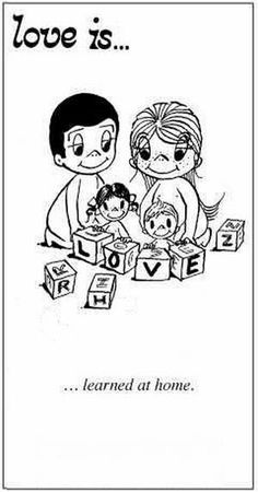 Love is. learned at home. - Love is. Love Is Comic, Love Is Cartoon, What Is Love, Our Love, Love Of My Life, Love You, Lovey Dovey, Love Notes, Love And Marriage