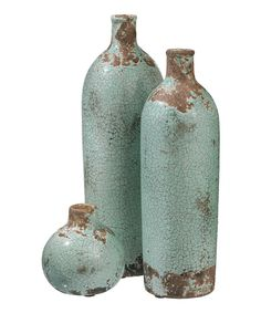 Look at this Ceramic Aged Vase Set on #zulily today!