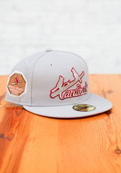 New Era St Louis Cardinals Mens Grey Tonal Red Pop 1926 WS Side Patch 59FIFTY Fitted Hat - 59005354 St Louis Cardinals, Fashion Colours, Team Logo, Color Pop, Patches, Grey, Hats, Fitness, Gray