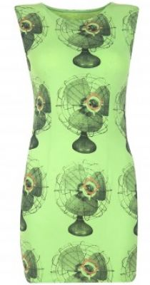 Green fan print dress available only at Pernia's Pop-Up Shop. #3OtherThings #Fashion
