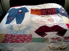 Extra Large Custom Baby Clothes Quilt Memory by MaidenJane ... : custom baby clothes quilt - Adamdwight.com