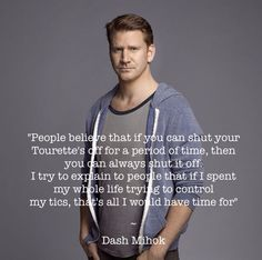 Dash Mihok on Tourette syndrome
