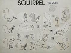 Squirrel from Sleeping Beauty by Milt Kahl, based on designs by Tom Oreb. via Deja View