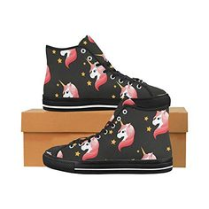 Interestprint womens loafers classic casual canvas slip on fashion interestprint fashion sneaker painted cute unicorn womens classic high top canvas shoes 1013 1 urtaz Gallery