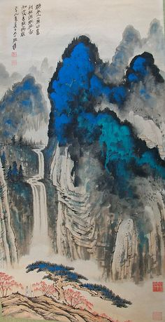 Chinese Landscape Painting, Chinese Painting, Landscape Paintings, Japanese Drawings, Japanese Artwork, Japan Painting, China Art, Sculpture Art, Illustration Art