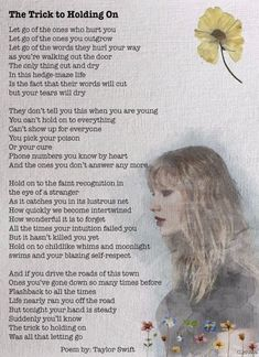 Savvy LOVES TAYLOR ! Taylor Swift Quotes, Long Live Taylor Swift, 1989 Taylor Swift, Taylor Alison Swift, Taylor Swift Tattoo, Taylor Swift Posters, Poems On Love, Holding On Quotes, Family Poems