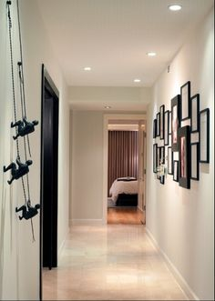 Nice idea for hallway decor. those guys are climbing up the wall