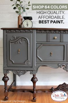 This piece was painted with Gravel Road No Pain Gel Stain in Espresso and Best Dang Wax in Brown. This piece was painted with Gravel Road No Pain Gel Stain in Espresso and Best Dang Wax in Brown. Gray Painted Furniture, Chalk Paint Furniture, Repurposed Furniture, Furniture Projects, Furniture Makeover, Home Furniture, Outdoor Furniture, Wooden Furniture, Vintage Furniture