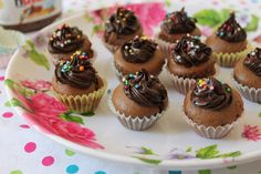 Nutella Mini Cupcakes - Just 3 Ingredients, No Butter or Oil