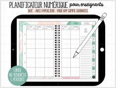 À utiliser sur Ipad ou tablette Androïd. Grid, Primary Education, Planner Organization, Notebook
