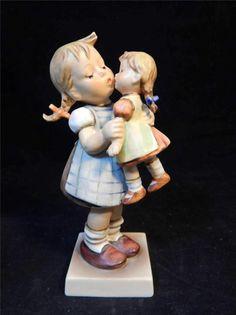 1960 Goebel M.I. Hummel Kiss Me #311 TMK #3 Porcelain Figurine GERMANY / $200