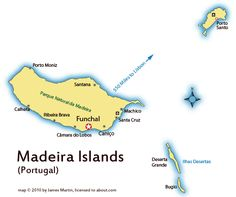 Madeira Islands Map