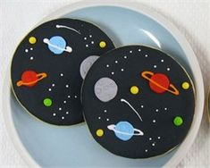 Amazing outer space cookies.