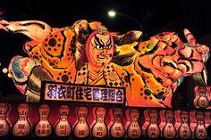 Nebuta (lantern float) from the Nebuta Matsuri, Nishikawa