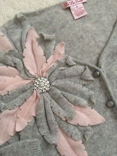 RARE Anthropologie LU LU LAME S Petal Cashmere Cardigan #Anthropologie #Cardigan