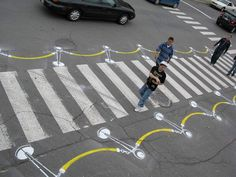 Adds attention for other traffic and makes the pedestrian feel special. Smart