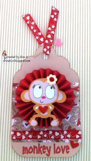 Monkey Valentine's Tag