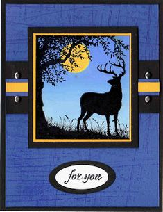 Love to Stamp Scrap: Stamp Sets: Nature Silhouettes Masculine Birthday Cards, Handmade Birthday Cards, Masculine Cards, Greeting Cards Handmade, Happy Friday, Horse Cards, Scrapbook Cards, Scrapbooking, Silhouettes