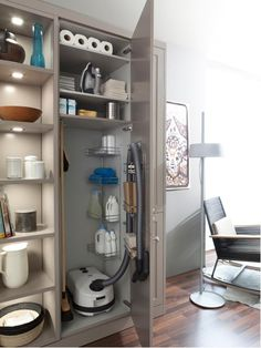 30 Small Bathroom Design Ideas for Your Home ~ Ideas for House Renovations Laundry Room Storage, Laundry Room Design, Storage Room, Kitchen Storage, Storage Ideas, Laundry Rooms, Kitchen Pantry, Storage Solutions, Bathroom Storage