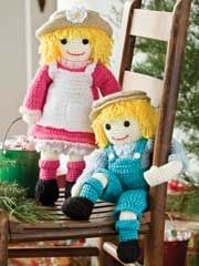 http://images.anniescatalog.com  GIRL AND BOY DOLL