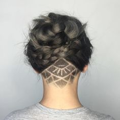 """Hair Gypsy on Instagram: """"This undercut and style by @playwithscissors is perfection  •••••• #undercut #braid #steelgrey #perfection #❤"""""""