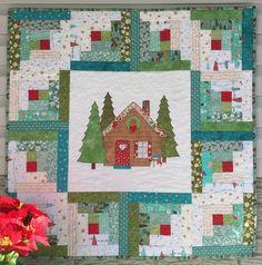 Log Cabin Christmas Quilt Pattern