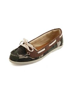 Camo Canvas Boat Shoe: Charlotte Russe WANT!!! (for me to wear, not for Jacks to eat)
