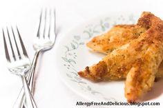 (Basic) Dairy Free & Egg Free - Easy Baked Chicken Tenders {Recipe}