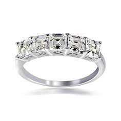 Shop for Icz Stonez Silver Asscher-cut Cubic Zirconia Fashion Ring. Get free delivery On EVERYTHING* Overstock - Your Online Jewelry Shop! Get in rewards with Club O! Sterling Silver Jewelry, Gemstone Jewelry, Jewelry Rings, Jewlery, Gold Jewellery, Jewelry Shop, Jewelry Ideas, Pretty Rings, Beautiful Rings
