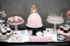 Barbie Cake & Buffet Table