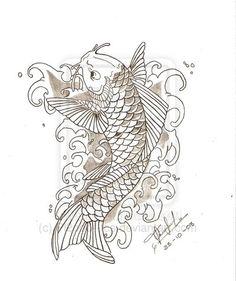 Koi Fish - Pez Koi by Pl2ooo--tcs.deviantart.com on @deviantART