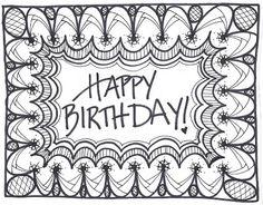 Doodle Doodled Birthday Card Frame Happy For Him My Husband