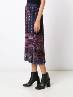 Vanessa Bruno pleated floral print skirt