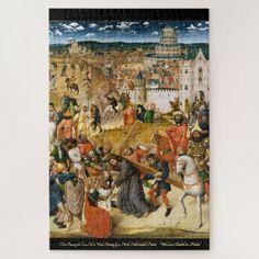 Christ Bearing the Cross Vintage Art Oil Painting Jigsaw Puzzle #jigsaw #puzzle #jigsawpuzzle Custom Jigsaw Puzzles, Canvas Poster, Vintage Art, Poster Vintage, Religious Art, Custom Posters, Beautiful Artwork, Art Oil, Lovers Art