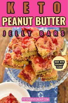 Keto Peanut Butter Jelly Bars are the ultimate keto-friendly snack The salty rich flavor of peanut butter combines beautifully with the homemade jelly for one fantastic keto treat. These low carb PB&J bars will be a hit with the entire family. Keto peanut butter jelly cookie bars| low carb peanut butter jelly bars| sugar-free peanut butter jelly bars