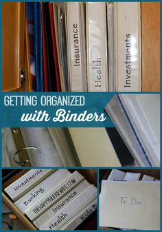Organizing with Binders: Clean Home, Fresh Start | The Happy Housewife