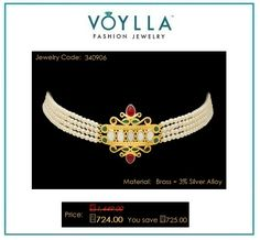 #Shop #Amer #Pearls And Gems Delight #Choker for #Women online at best #prices in #India from #Voylla.com.
