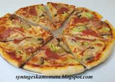 Cookbook Recipes, Cooking Recipes, Pizza Pastry, Greek Recipes, Hawaiian Pizza, Pepperoni, Vegetable Pizza, Food And Drink, Rolls